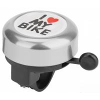 Звонок д/вело ''I love my bike'' метал.,цветной