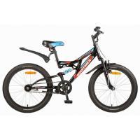 Велосипед NOVATRACK 20'', SHARK, 6-скор. черный 117083