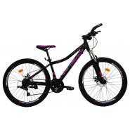 Велосипед Nameless J6500DW 15' 21ск, черный/розовый