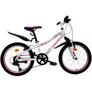 Велосипед Nameless S2100W 6ск, белый/розовый