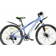 Велосипед Nameless J2000D черный мат/зеленый