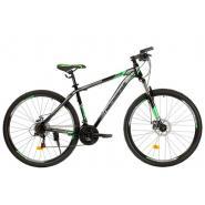 Велосипед Nameless S9300D 19' 21ск, черный/зеленый