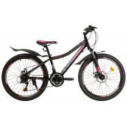 Велосипед Nameless J4000DW 13'' 21ск, черный/розовый