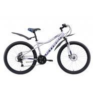 Велосипед Stark Slash 27.1 D серебристый/черный 16'' (2021)