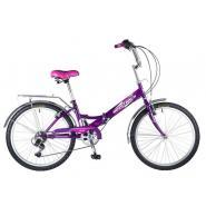 Велосипед NOVATRACK 24'', FS, скл. 6-ск, фиолет.