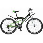 Велосипед Stinger Banzai 16'', 2-х подвес.18ск, черный