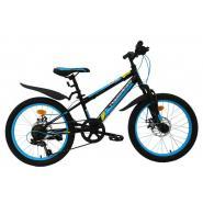 Велосипед Nameless S2000D 10,5' 6ск, черный/синий