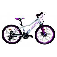 Велосипед Nameless S2100W 6ск, белый/фиолетовый