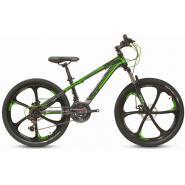 Велосипед PULSE MD 200L черный/зеленый, литые