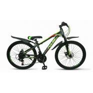 Велосипед PULSE MD1000 серый/зеленый/желтый