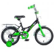 Велосипед NOVATRACK 12'', STRIKE, черный-зеленый