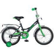 Велосипед NOVATRACK 14'',STRIKE, черный-зеленый