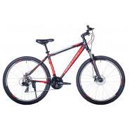 Велосипед HARTMAN Ingword Disk 19'' 21ск. алюм, черно-красн-серебр хром мат