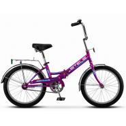Велосипед Stels Pilot-310 13 артZ011 фиолетовый/голубой