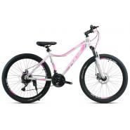 Велосипед Faraon MD2080, 6ск бело-розовый