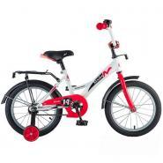 Велосипед NOVATRACK 12'', STRIKE, белый-красный #125956