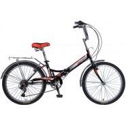 Велосипед NOVATRACK 24'', TG, скл, 6-ск, черный