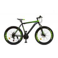 Велосипед HOGGER 'PHOENIX' MD 15'' 21ск, сталь зелено-серо-черный