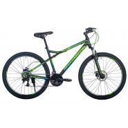 Велосипед HARTMAN Black stone Pro Disk 17 21ск. алюм, черн-зел. син. мат.