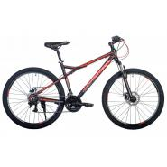 Велосипед HARTMAN Black stone Pro Disk 19 21ск. алюм, черн-красн. серый мат.