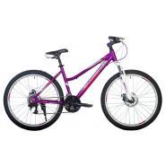 Велосипед HARTMAN Sintra Disk 15'' 21ск. бело-розовый фиолетовый мат.
