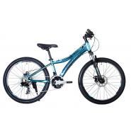 Велосипед HARTMAN Blaze Pro Disk 15 21ск. алюм, зел.неон черно-синий