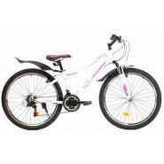 Велосипед Nameless S6200W 15' 21ск, белый/розовый