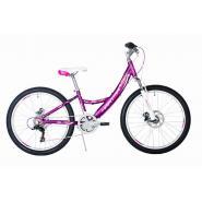 Велосипед HARTMAN Alba PRO Disk, 12,5 18ск, алюм, фиолетово-белый мат.