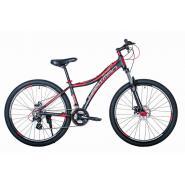 Велосипед HARTMAN Blaze Pro LX Disk 15 21ск. алюм, черн-красный мат.