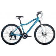 Велосипед HARTMAN Ultra Pro Disk 17 21ск. алюм, темн.серый/черн/голубой(2021)