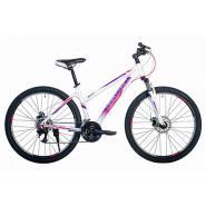 Велосипед HARTMAN Sintra Disk 17'' 21ск. алюм, бело-сиреневый мат