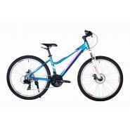 Велосипед HARTMAN Sintra disk 15'' 21ск. алюм, синий белый глянец