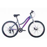 Велосипед HARTMAN Diora Pro Disk 17 21ск. алюм, графит/сирен/розовый(2021)