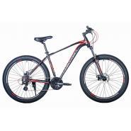 Велосипед HARTMAN Neo ENDURO 21 24ск.алюм, черный красный мат.