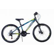 Велосипед HARTMAN Fan Disk 13 18ск.сталь, черный зеленый мат.(2020)