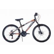 Велосипед HARTMAN Fan Disk 13 18ск.сталь, черный оранжевый мат.(2020)