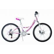Велосипед HARTMAN Alba PRO Disk, 13 6ск,алюм, белый сиреневый мат.(2020)