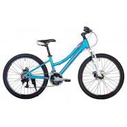 Велосипед HARTMAN Diora Pro Disk 13 18ск.алюм, голубой сиреневый мат.