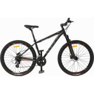 Велосипед Welt Ridge 1.0 D 27 2020 matt black/orange/green L/20'