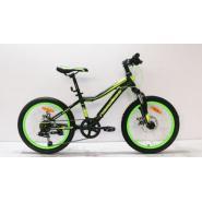 Велосипед Nameless J2200D 12', черный/зеленый