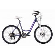 Велосипед HARTMAN Runa NX Disk 19'' 21ск. алюм, синий фиолет сиреневый мат