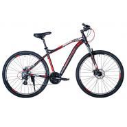 Велосипед HARTMAN AEROMAX Pro 19 21ск. алюм, черный красный серый мат.