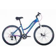 Велосипед HARTMAN Diora Pro Disk 19 21ск. алюм, синий/метал/бирюз(2021)