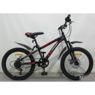 Велосипед Faraon MD2040, 6ск черно-красный