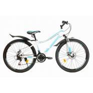 Велосипед Nameless J7300DW 21ск, белый/зеленый