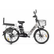 Велогибрид GREEN CITY e-ALFA LUX серебристый-2396