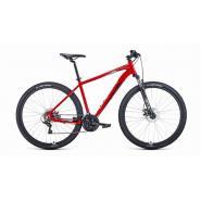 Велосипед FORWARD APACHE 2.2 disc 21ск, 21'' красный/серебр(2021)