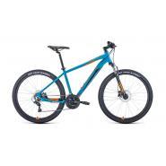 Велосипед FORWARD APACHE 3.2 disc 21ск. 19'' бирюзовый/оранж(2021)