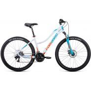 Велосипед FORWARD JADE 2.2 S disc 21ск. 16.5'' белый/бирюзовый (20 - 21)