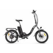 Велогибрид VOLTECO FLEX черно-серый-2194